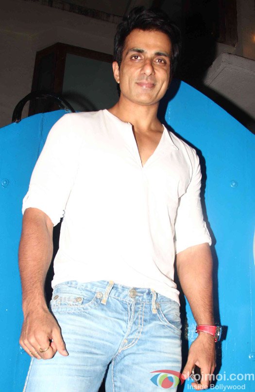 Sonu Sood at the party hosted by Deepika padukone for the succes of movie Piku
