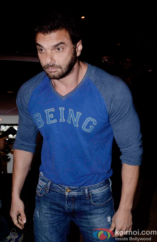 Sohail Khan at the party hosted by Deepika padukone for the succes of movie Piku