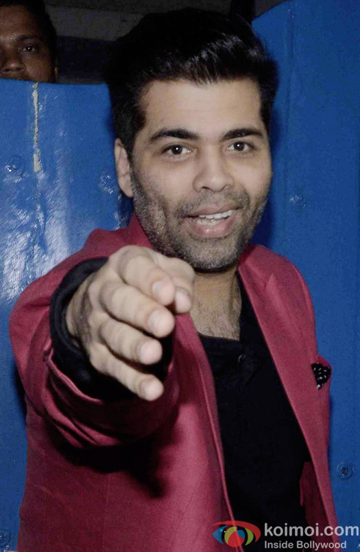 Karan Johar at the party hosted by Deepika padukone for the succes of movie Piku