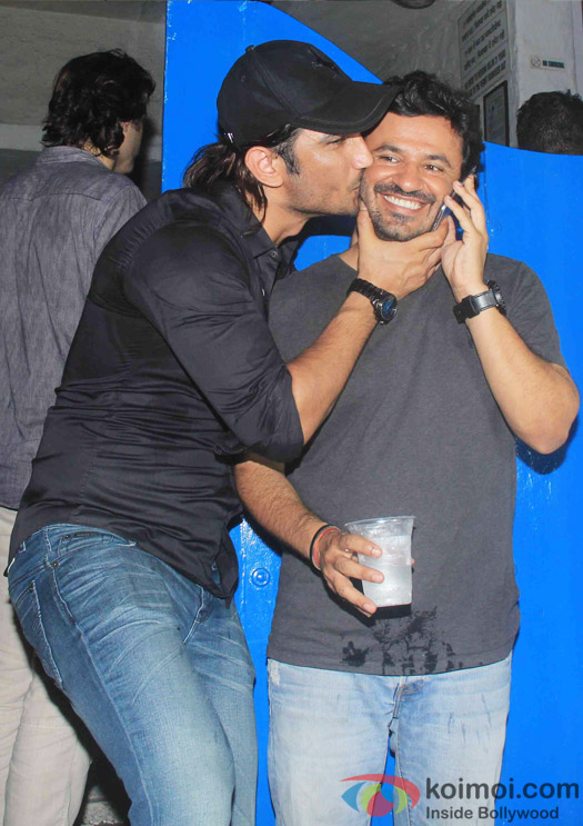 Sushant Singh Rajput and Vikas Bahl at the party hosted by Deepika padukone for the succes of movie Piku