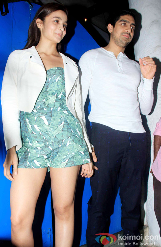 Alia Bhatt and Ayan Mukerji at the party hosted by Deepika padukone for the succes of movie Piku