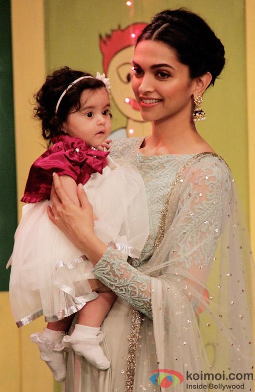Khushi & Deepika Padukone on the sets of 'Taarak Mehta Ka Ooltah Chashmah'