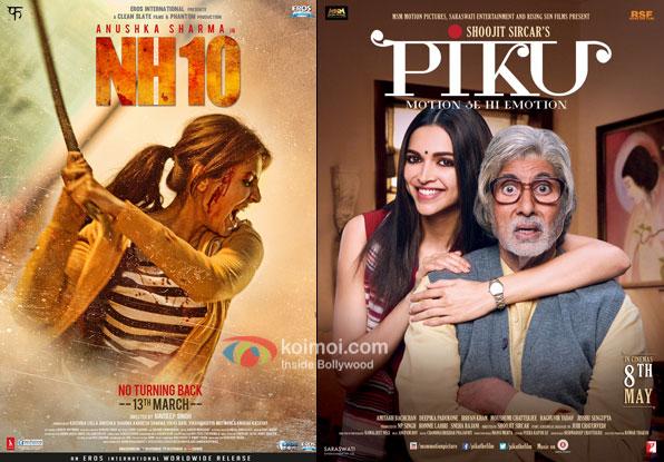 NH10 and Piku movie poster
