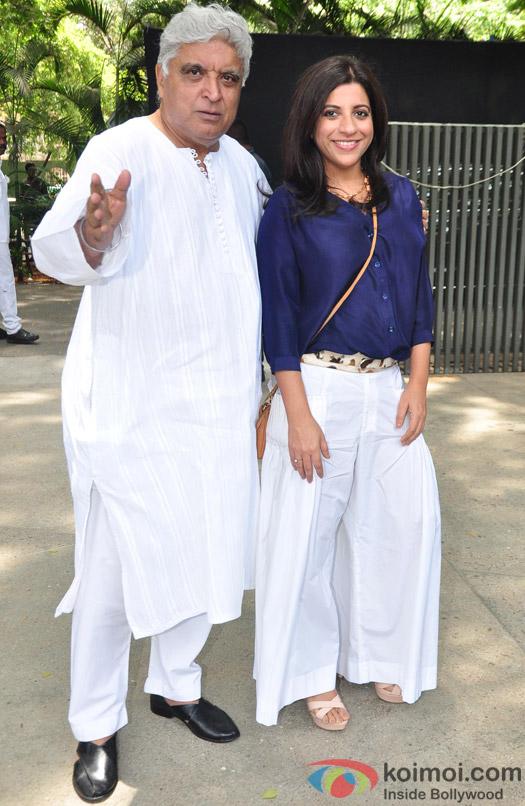Javed Akhtar and Zoya Akhtar