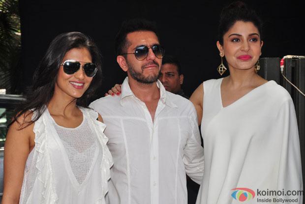 Dolly, Ritesh Sidhwani and Anushka Sharma