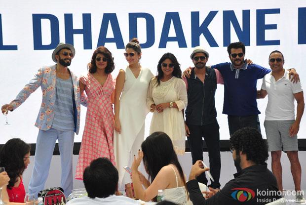 Ranveer Singh, Priyanka Chopra, Anushka Sharma, Shefali Shah, Farhan Akhtar, Anil Kapoor and Rahul Bose