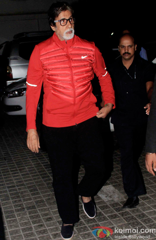 Snapped : Amitabh Bachchan watch movie at juhu pvr Mumbai