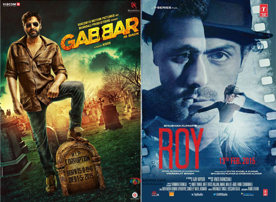 Gabbar Is Back and Roy movie posters