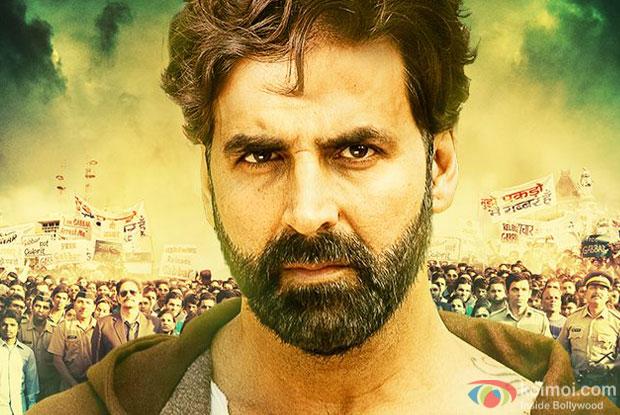 Akshay Kumar in a still from 'Gabbar Is Back' movie poster