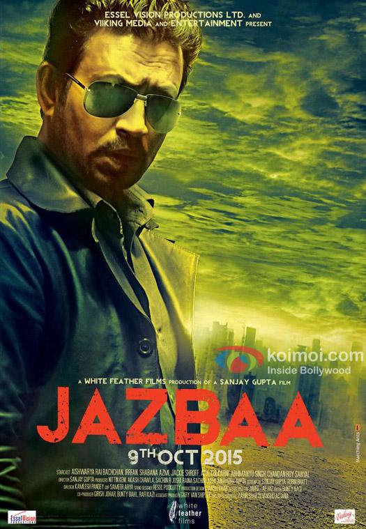 Irrfan Khan in a 'Jazbaa' movie poster