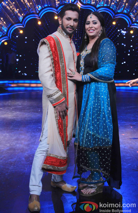 Terence Lewis and Geeta Kapoor on the sets of DID Super MOM