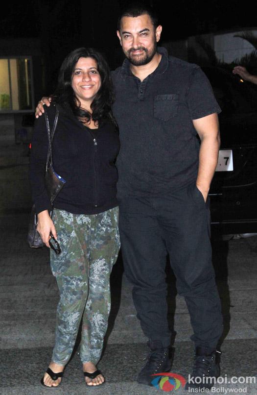 Zoya Akhtar and Aamir Khan