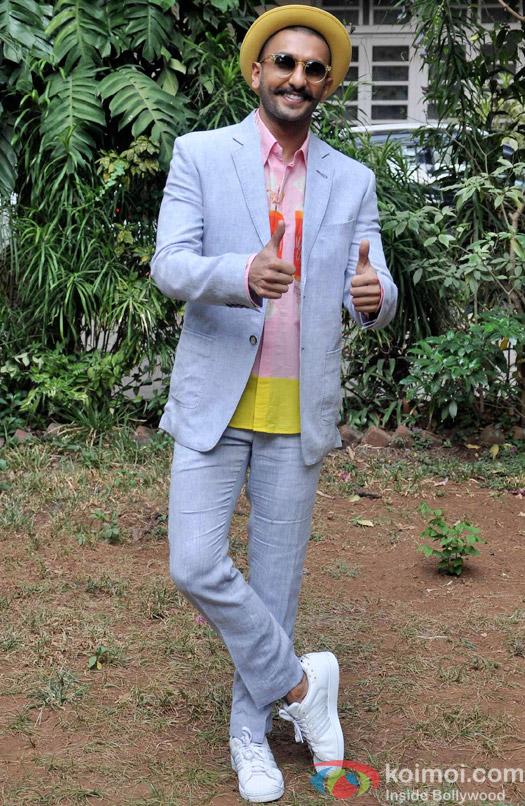 Ranveer Singh during the media interaction of movie Dil Dhadakne Do