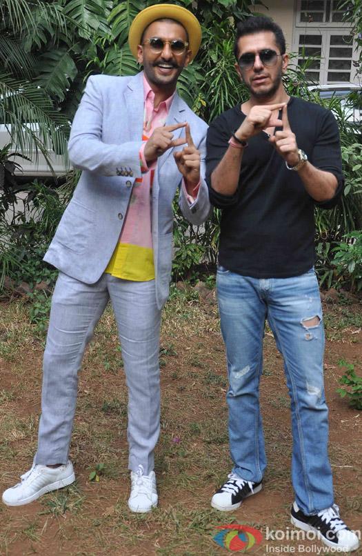 Ranveer Singh and Ritesh Sidhwani during the media interaction of movie Dil Dhadakne Do