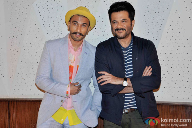 Ranveer Singh and Anil Kapoor during the media interaction of movie Dil Dhadakne Do