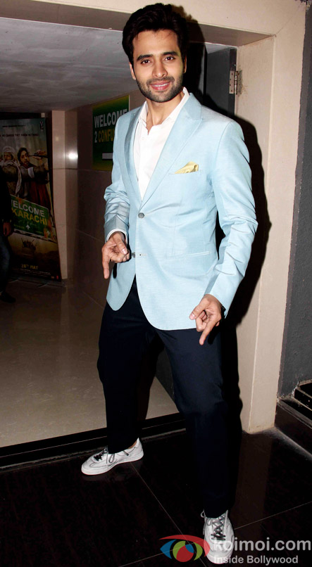 Jackky Bhagnani during the music launch of Welcome to Karachi