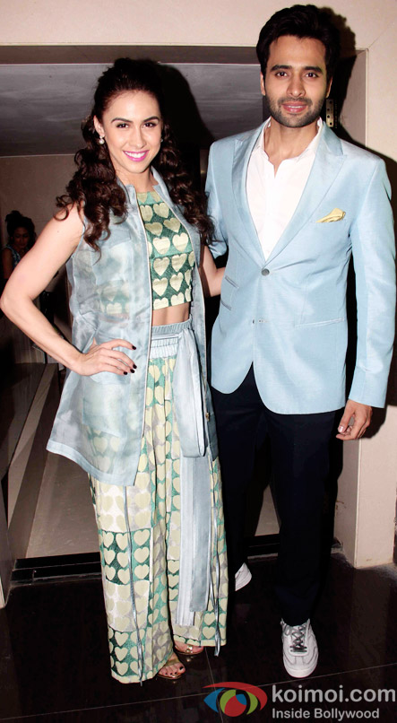 Lauren Gottlieb and Jackky Bhagnani during the music launch of Welcome to Karachi