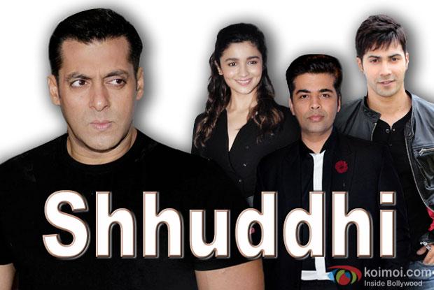 Salman Khan, Alia Bhatt, Karan Johar and Varun Dhawan