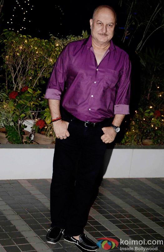 Anupam Kher during the Omung Kumar's 'Mary Kom' success bash