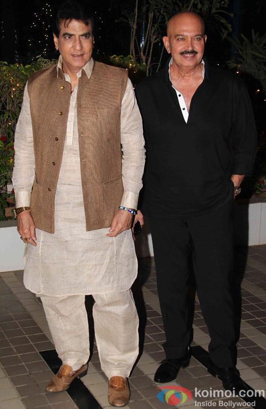 Jeetendra and Rakesh Roshan during the Omung Kumar's 'Mary Kom' success bash