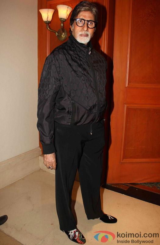 Amitabh Bachchan during the press meet of movie 'Piku'
