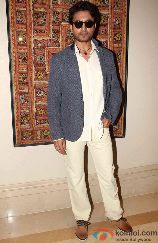 Irrfan Khan during the press meet of movie 'Piku'
