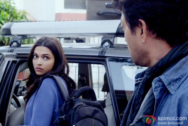 Deepika Padukone and Irrfan Khan in a still from movie 'Piku'