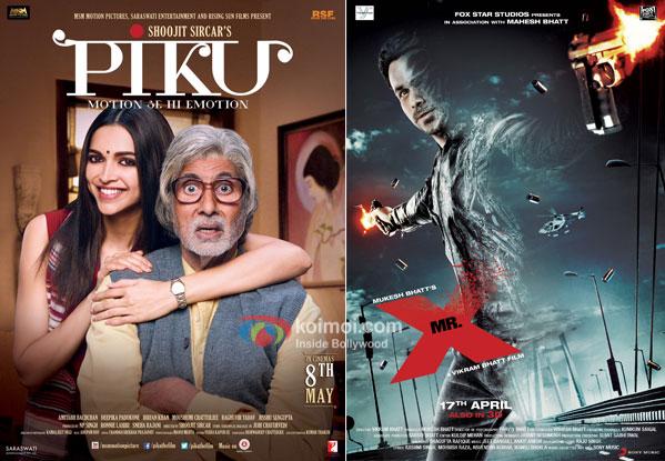 Piku and Mr. X movie posters