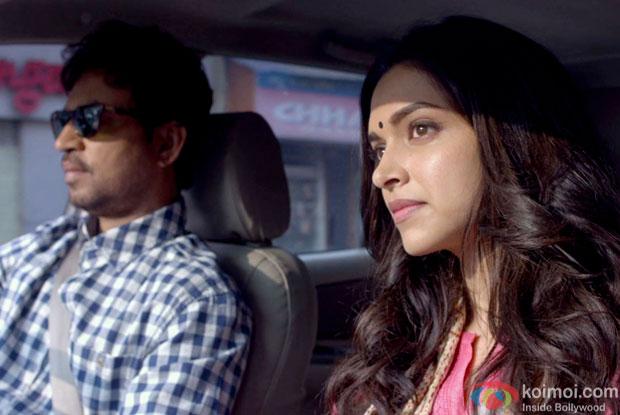 Irrfan Khan and Deepika Padukone in a still from movie 'Piku'