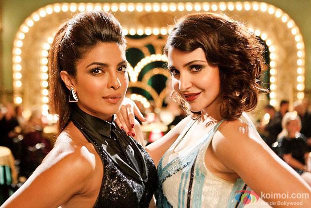 Priyanka Chopra and Anushka Sharma in a still from movie 'Dil Dhadakne Do'