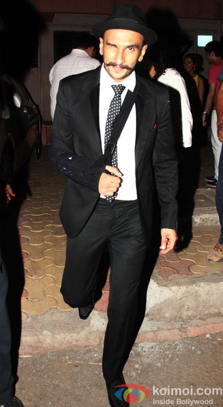 Ranveer Singh Snapped At Filmcity