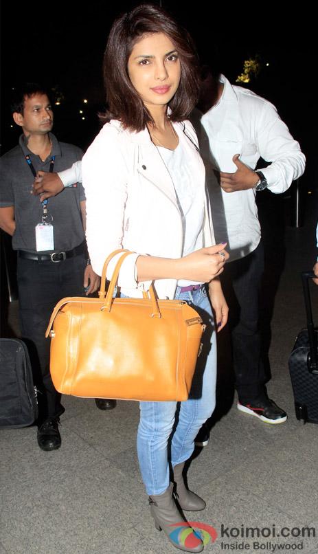Priyanka Chopra Snapped Leaving For New York