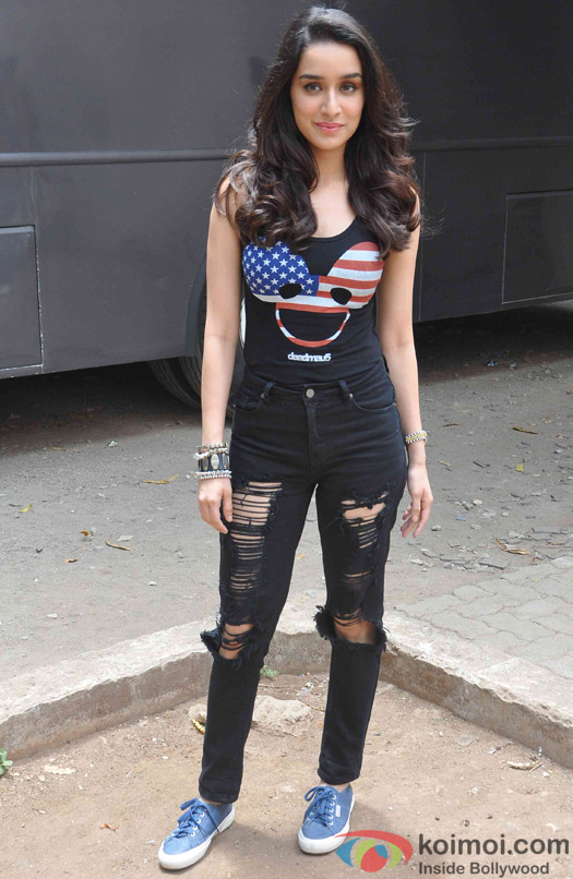 Shraddha Kapoor  during the Promotion of ABCD 2 at Mehboob studio
