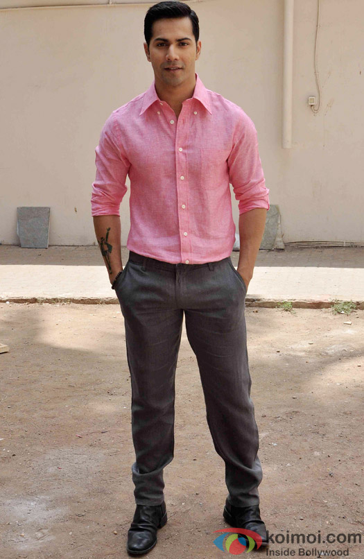 Varun Dhawan during the Promotion of ABCD 2 at Mehboob studio