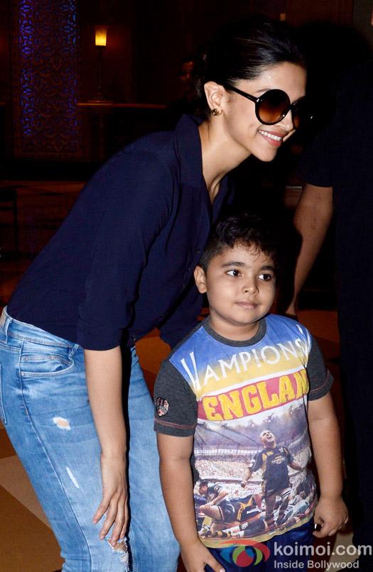 Deepika Padukone during the promotion Of movie Piku