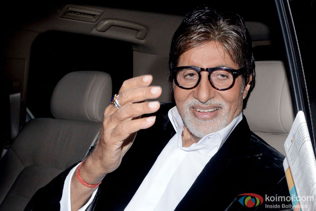 Amitabh Bachchan during the promotion Of movie Piku