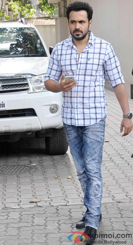 Emraan Hashmi during the promotion of 'Hamari Adhuri Kahani'