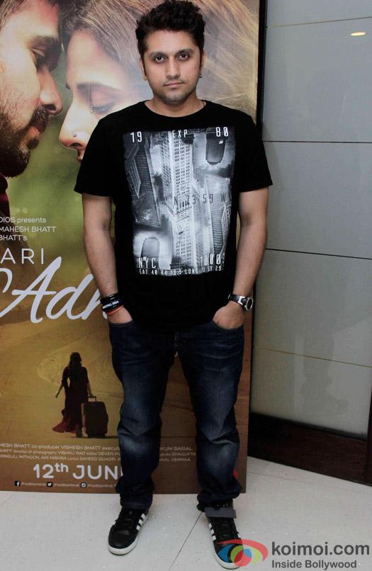 Mohit Suri during the promotion of 'Hamari Adhuri Kahani'