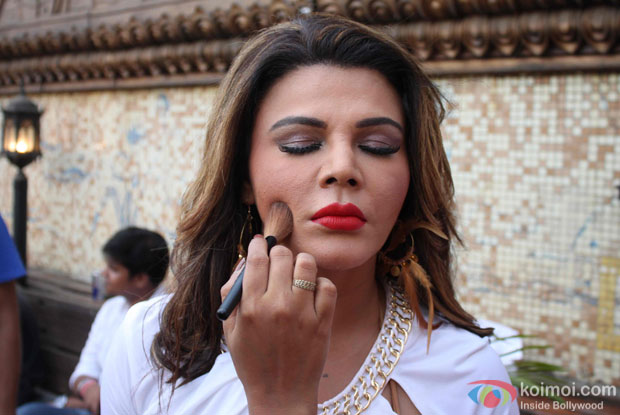 Rakhi Sawant during a on location shoot of song Party Punjab Style