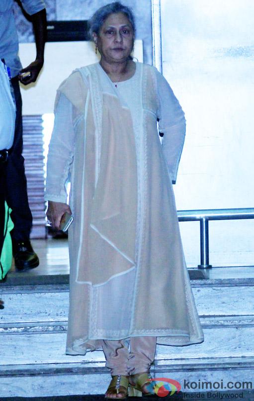 Jaya Bachchan Spotted At Airport