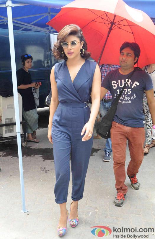 Priyanka Chopra spotted at Mehboob studio