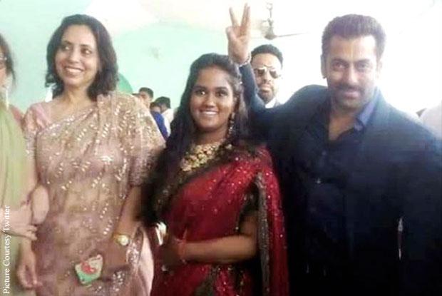 Salman Khan At Arpita's Wedding Reception In Mandi