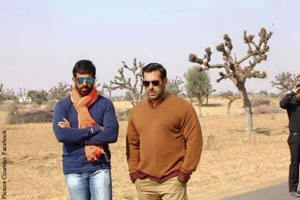 Kabir Khan and Salman Khan On The Sets Of Bajrangi Bhaijaan
