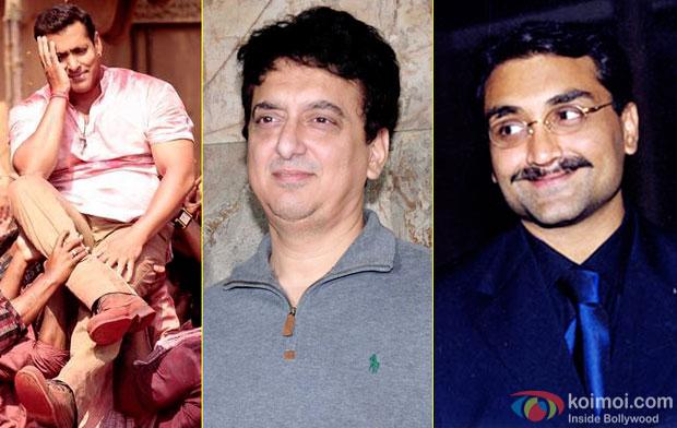 Salman Khan, Sajid Nadiadwala and Aditya Chopra