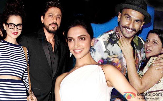 Kangana Ranaut, Shah Rukh Khan, Ranveer Singh and Zoya Akhtar Party Together At Deepika's Success Bash