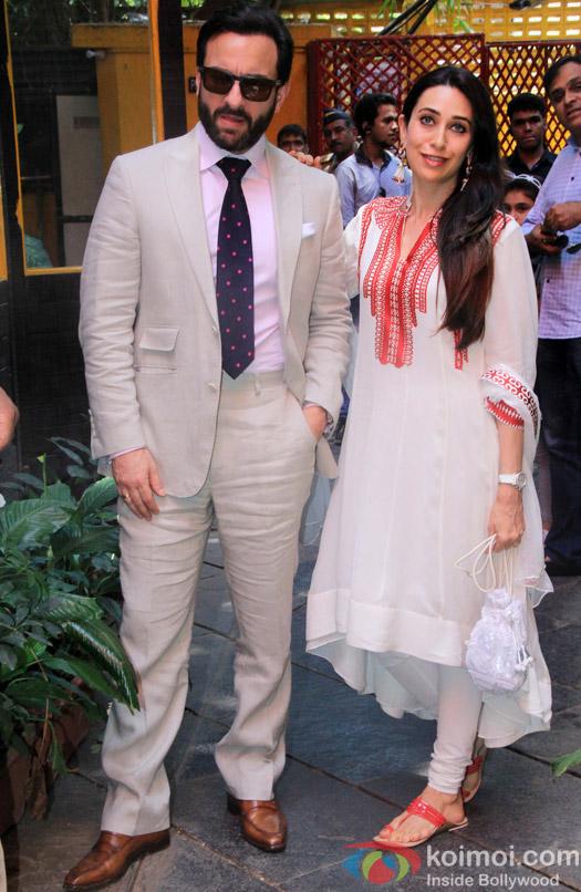 Saif Ali Khan and Karishma Kapoor during the Shashi Kapoor awarded with Dadasaheb Phalke award