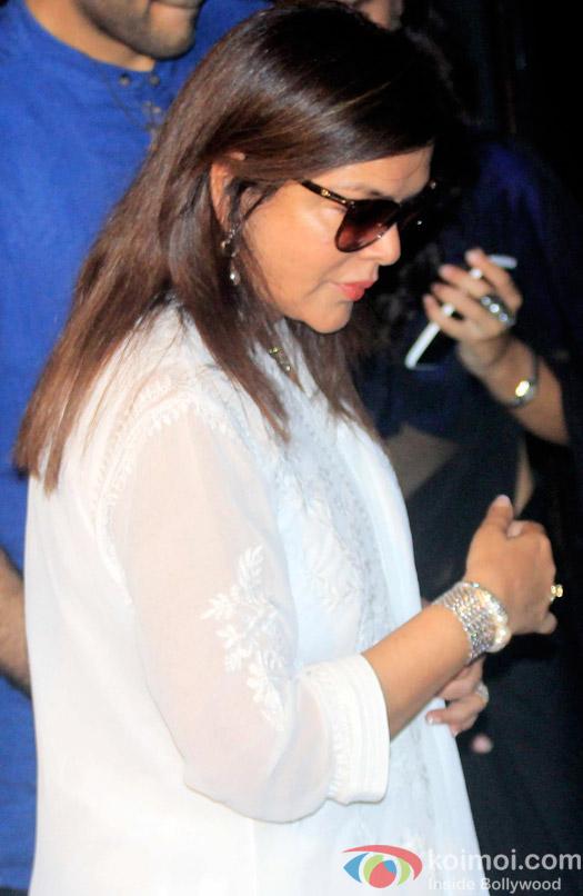 Zeenat Aman during the Shashi Kapoor awarded with Dadasaheb Phalke award