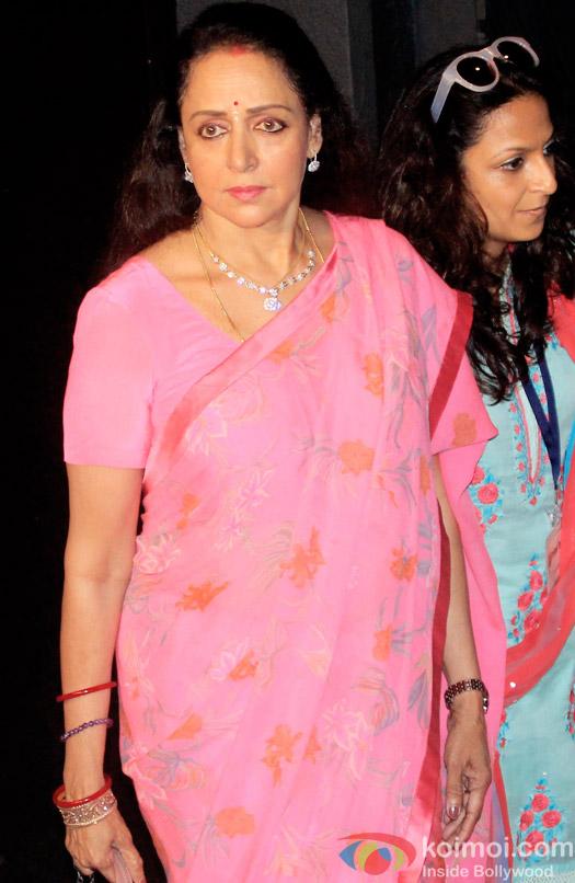 Hema Malini during the Shashi Kapoor awarded with Dadasaheb Phalke award