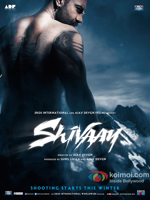 Ajay Devgn in a 'Shivaay' movie poster