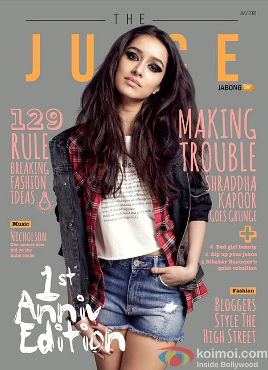 Shraddha Kapoor's Grunge Look On The Cover Of 'The Juice' Magazine
